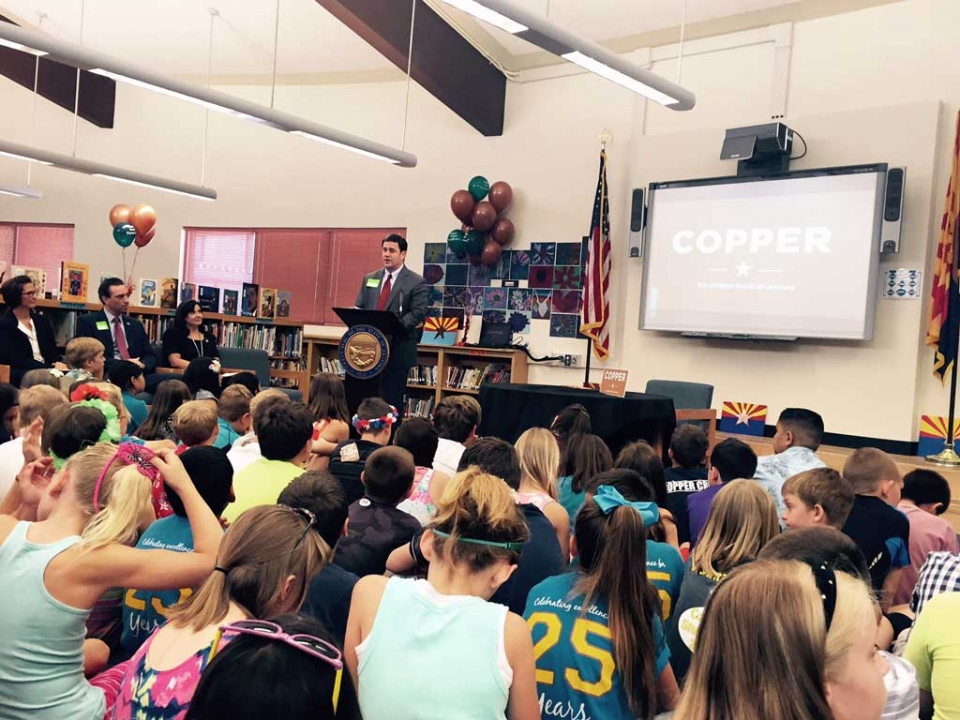 Governor Signs Copper Bill at Copper Creek Elementary