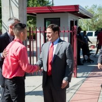 Governor visits Metro Tech HS