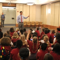 Governor visits with Archway Chandler students at the State Capitol.