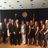 The 2015 Rodel Exemplary Principals visit with Governor Ducey at the Capitol.